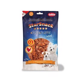 Starsnack Mini, soft chicken & carrot 70g