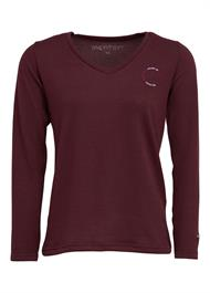 Montar Sweater v-neck bordeaux